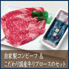 自家製コンビーフ&こだわり国産牛リブロースのセット